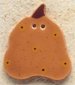 43056 - Pumpkin with Gold Dots - 1in x 1 1/8in